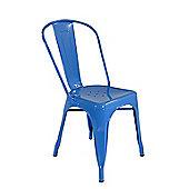 Xavier Pauchard Tolix Style Dining Chair Blue