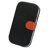 Tortoise™ Look Faux Leather Folio Case Samsung Galaxy SIII Mini Black.