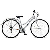 "16"" Reflex Cotswold Ladies Trekking, 18 Speed, Chrome Silver"