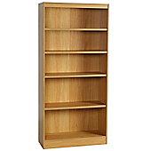 Enduro Five Shelf Tall Wide Wooden Bookcase - Beech