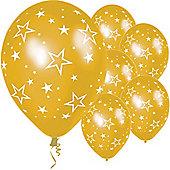 11' Stars All Over Gold (25pk)