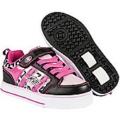 NEW Heelys Bolt 2.0 Girls Roller Skating Shoe Trainer in Black/Pink JNR 11-UK3 - Pink
