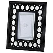 Circle Mirror Frame Black