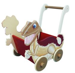 Teamson Dinosaur Push Cart