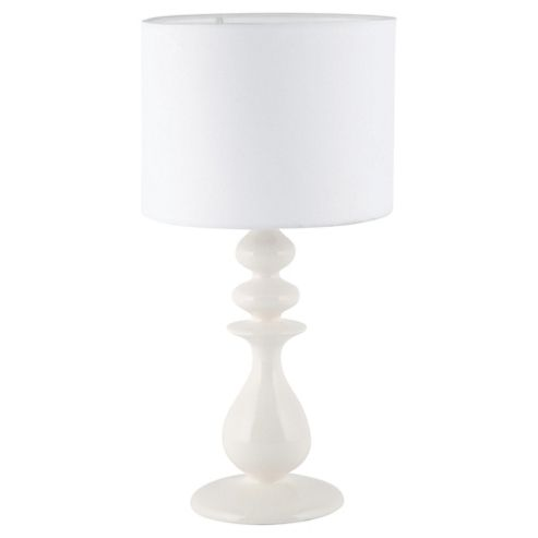 Tesco Lighting Juliette Ceramic Table Lamp White