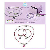 Children's Friendship Charm Bracelet Kit - Hearts Edition