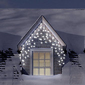 400 Ice White Snowing Outdoor & Indoor Icicle LED Christmas Lights