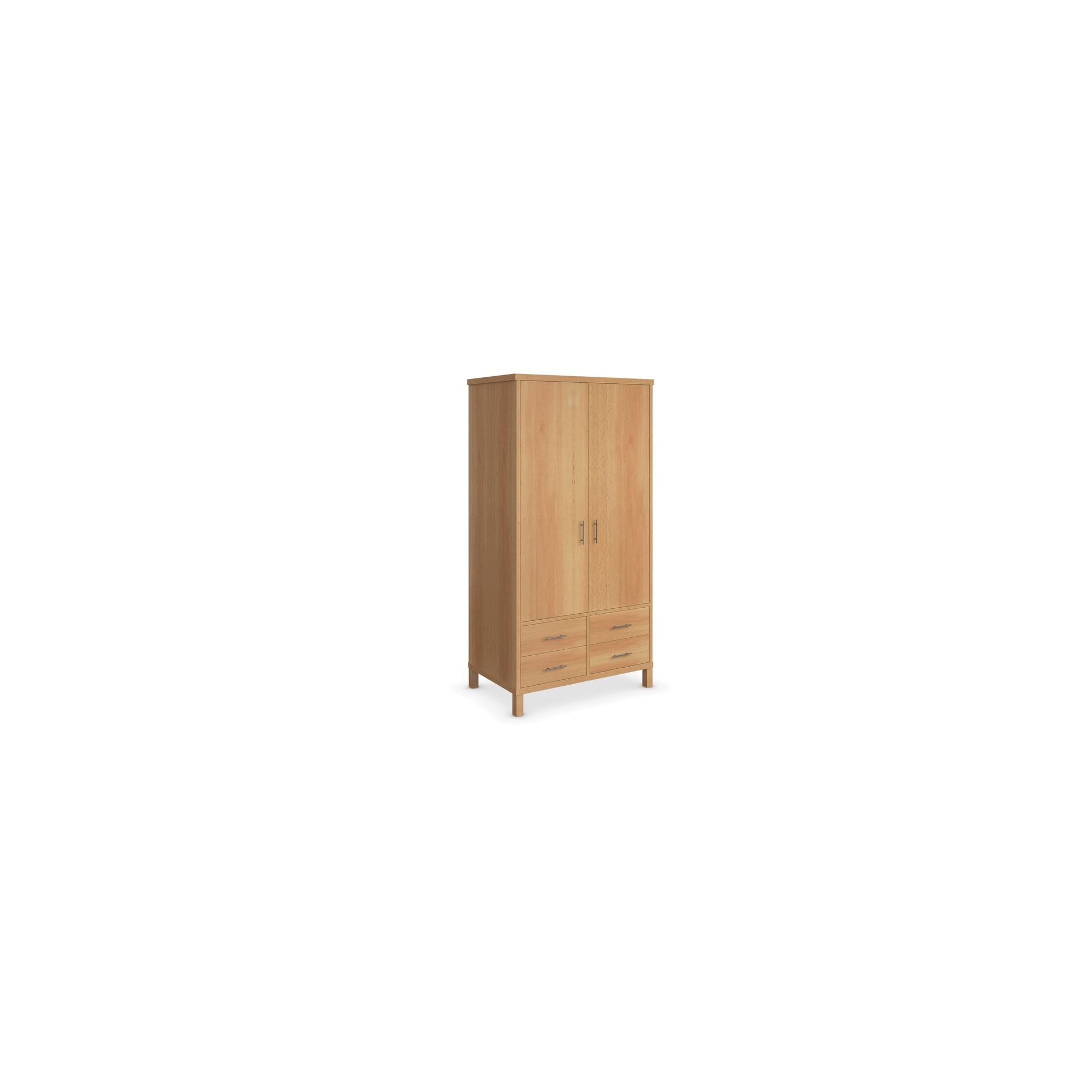 Urbane Designs Vettori Beech Bedroom 2 Door 4 Drawer Wardrobe at Tesco Direct