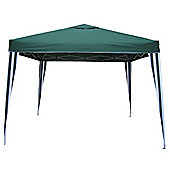 Bentley Garden 3m x 3m Green & White Striped Gazebo