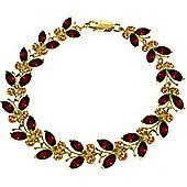 QP Jewellers 5in Citrine & Garnet Butterfly Bracelet in 14K Gold