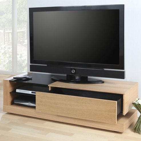 Jual Furnishings Cube TV Cabinet - Oak - Clear
