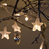 Indoor Star Fairy Lights With 30 Warm White LEDs