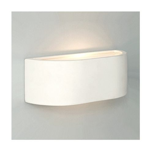 Buy Curved Ceramic Indoor Mini Wall Light, White from our Single Wall Lights range - Tesco