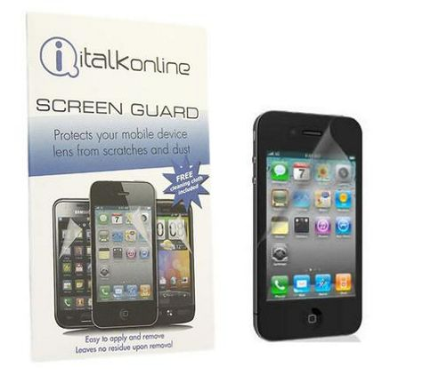 iTALKonline 12473 Screen LCD Scratch Protector (5 Pack) & MicroFibre Cloth - Apple iPhone 4