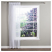 "Ceder Voile Slot Top Curtains W137xL122cm (54x48""), White"