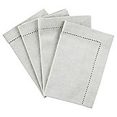 Tesco Grey Napkin, 4 Pack