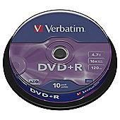 Verbatim DVD+R 10 Pack - Matt Silver
