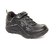 Hi Tec Terrain Lace Teen Boys Black Leisure Trainer - Black