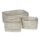 Eightmood 3 Pieces Picnic Basket Set - Beige