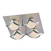 Home Essence Persephone Four Light Aluminium Spotlight