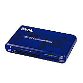 Hama USB 2.0 Card Reader - Blue