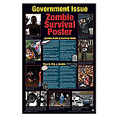 Gloss Black Framed Zombie Survival Poster