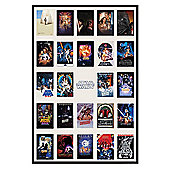 Star Wars Gloss Black Framed Collage Poster