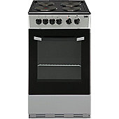 Beko Single Electric Oven Cooker, 50cm Wide, BS530S - Silver