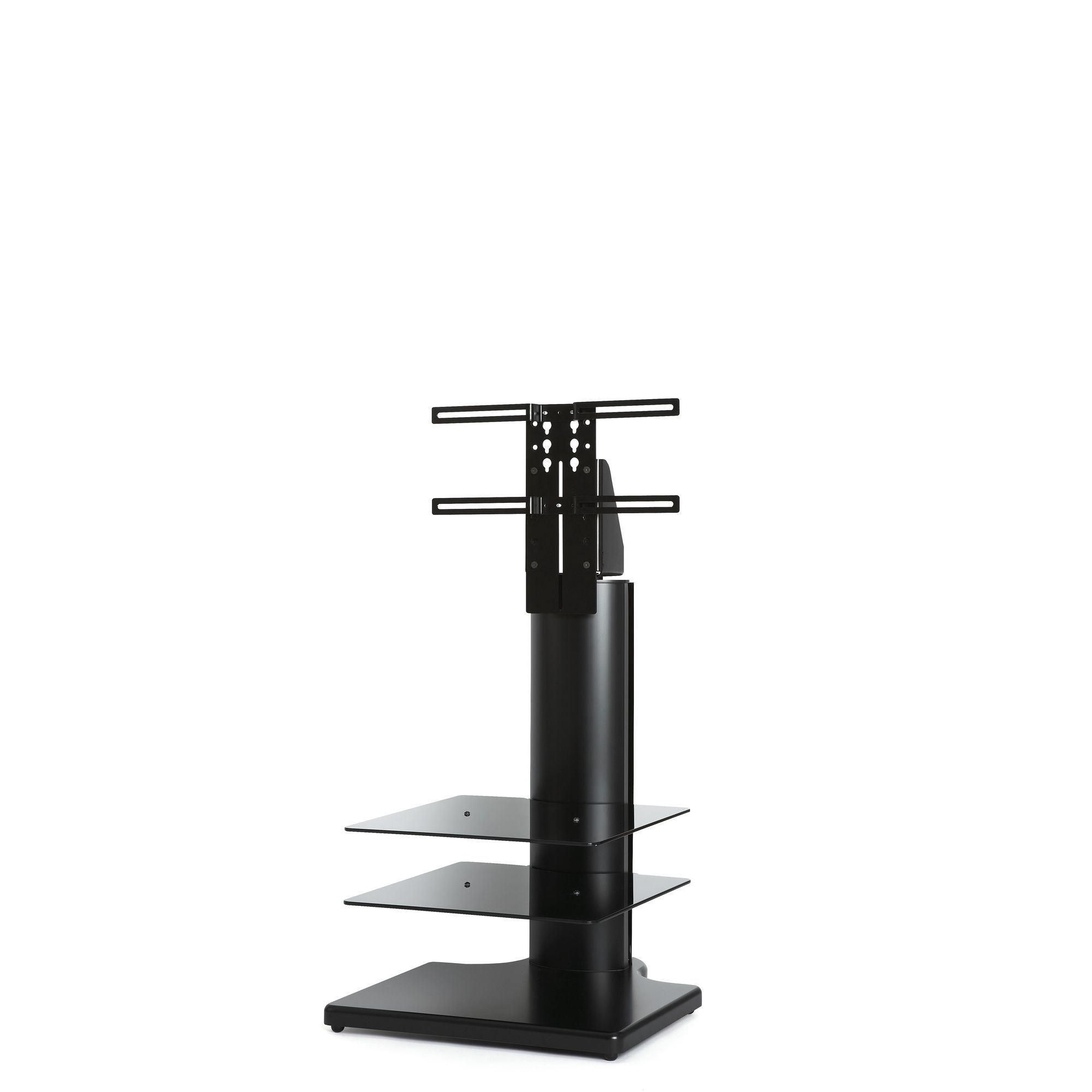 Off The Wall Origin 32'' Small Square TV Stand - Black / Black glass at Tesco Direct