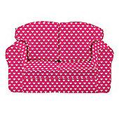 Children's Sofa - Pink Hearts