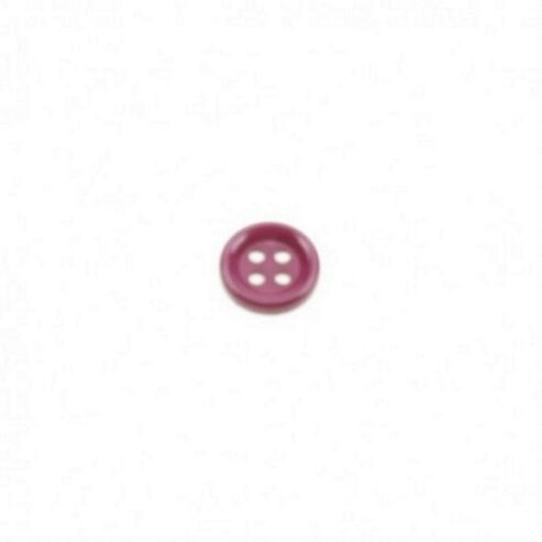 Dill Buttons 13mm Round - Burgundy