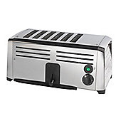 6 Slot Stainless Steel Commercial Toaster - Silver