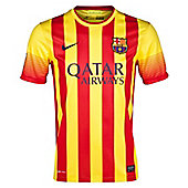 2013-14 Barcelona Away Nike Football Shirt (Kids) - Red