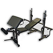 Bodymax CF340 Compact Bench with Preacher and Butterfly Attachments