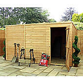 10ft x 8ft Windowless Tongue & Groove Pent Shed