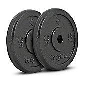 Bodymax Standard Hammertone Weight Plates - 2 x 7.5kg