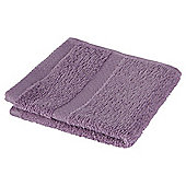 Tesco 100% Combed Cotton Face Cloth Heather