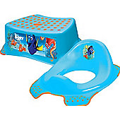Disney Finding Dory Kids Step Stool + Toilet Training Seat Combo