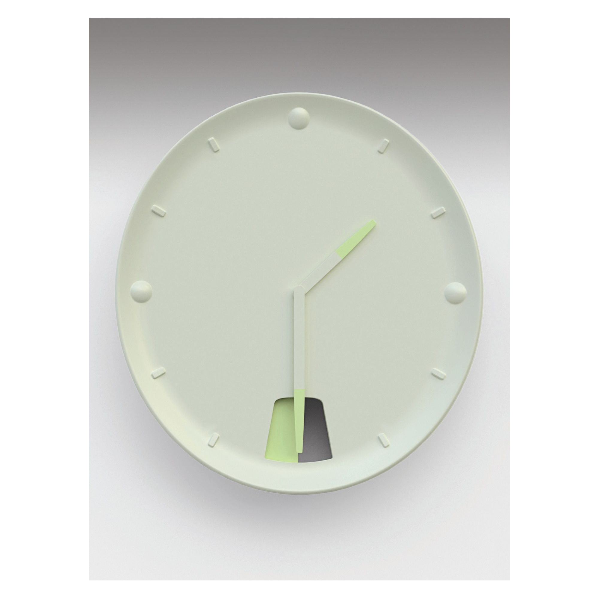 MOUSTACHE Guichet Wall Clock at Tesco Direct