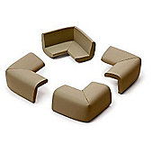 Prince Lionheart Jumbo Corner Guards Pack of 4 Chocolate