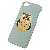 Tortoise™ Hard Protective Case, iPhone 5/5S. Blue with Owl design