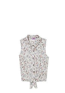 F&F Butterfly Print Sleeveless Shirt - Pink