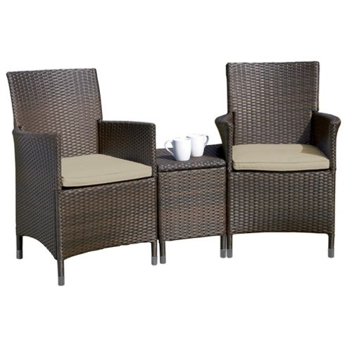 buy royalcraft rattan companion seat brown from our. Black Bedroom Furniture Sets. Home Design Ideas