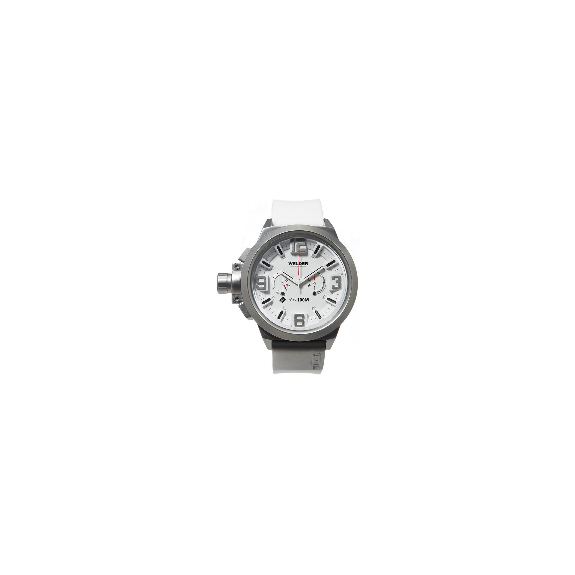 Welder Gents White Dial White Rubber Strap Watch K22-900 at Tesco Direct