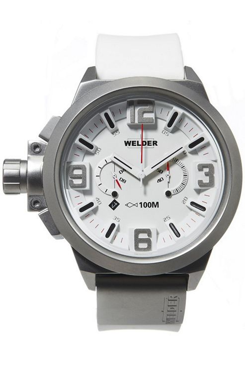 Welder Gents White Dial White Rubber Strap Watch K22-900