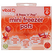 VITAL BABY MINI PRESSPOP FREEZERPOTS CLEAR 8