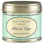 Wax Lyrical Wild Mint And Sage Filled Tin Candle