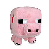 "Minecraft 7"" Plush Toy Animal Baby Pig"