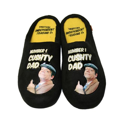 Only Fools and Horses Cushty Dad Slippers with Sound (Size 9-10)