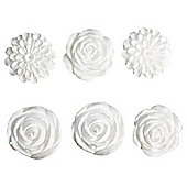 Resiin Flowers 6Pcs
